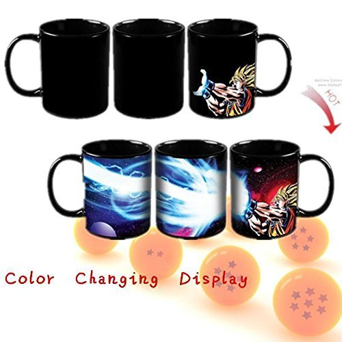 New Dragon Ball Z Goku Saiyan Ceramic Heat Reactive Coffee Mug Cup Gift ;TM79F-32M (Ceramic Mug New Coffee Cup)