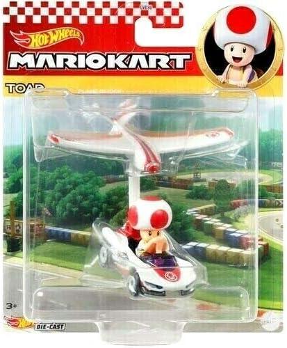 Plane Glider DieCast Hotwheels Mario Kart Toad P-Wing