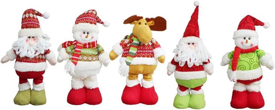 Set 3 45mm tall cute Christmas Gnome  Snowman  Reindeer Dangly Legs Ornaments