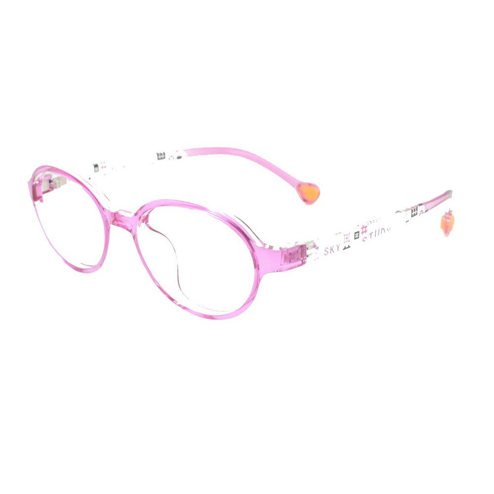 6fa34a8a8603 Amazon.com: EyeBuyExpress Prescription Boys Girls Pink Clear Rounded  Rectangular Reading Glasses Children Anti Glare Quality +0.25: Health &  Personal Care