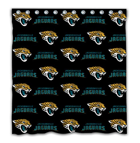- Sorcerer Design Colourful Jacksonville Jaguars Shower Curtain American Tootball Team Polyester Waterproof for Bathroom Decoration Set with Hooks 66x72 Inches