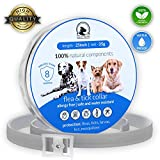 Flea Tick Collar Prevention Control for Dogs - 8 Months - Natural Herbal Non-Toxic Adjustable Flea Collar Waterproof Protection for Large Medium Small Pet Supplies Repels Fleas Lice Ticks Mosquitoes