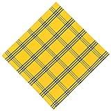 100% Cotton Blue & Yellow Plaid 22''x22'' Napkins, Set of 6 - Safflower