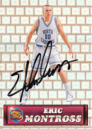 (Eric Montross autographed Basketball Card (North Carolina Tar Heels) 1994 Pacific Draft Rookie Refractor #38)