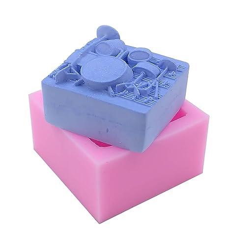 Molde de silicona para velas, jabón hecho a mano, manualidades, chocolate, magdalenas, hielo (batería): Amazon.es: Hogar