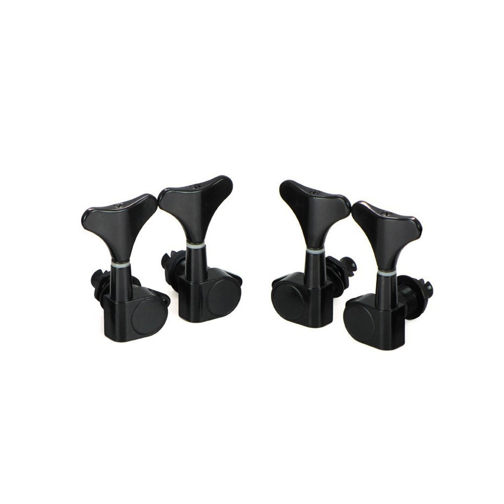 Timiy Guitar Bass Tuning Pegs 2R2L Machine Heads Pegs in Black