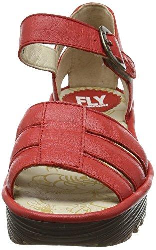 FLYA4|#Fly London Rese730fly, Heels Sandals para Mujer Rojo (Scarlet 003)