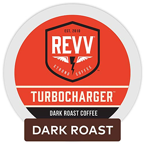 Revv Turbocharger, Single Serve Coffee K Cup Pods for Keurig Brewers, Dark Roast, 96Count