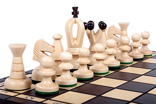 The Veles Chess Set, Wooden Handmade European Chess Pieces, 2.3