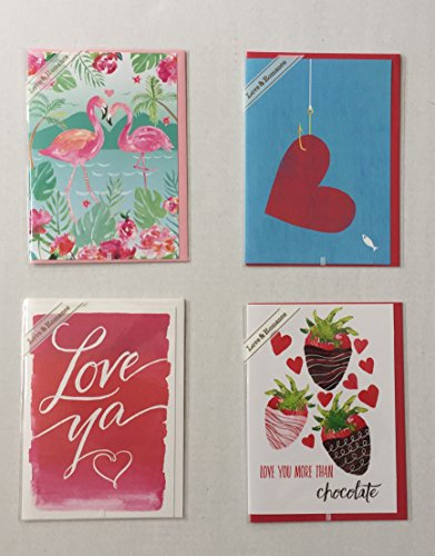 Recycled Premium Envelopes (Premium Greeting Cards and Envelopes – Love And Romance Theme. Colorful, Eco Friendly 100% recycled in 4 Different Designs, 100% recycled Envelopes Included (4 items))