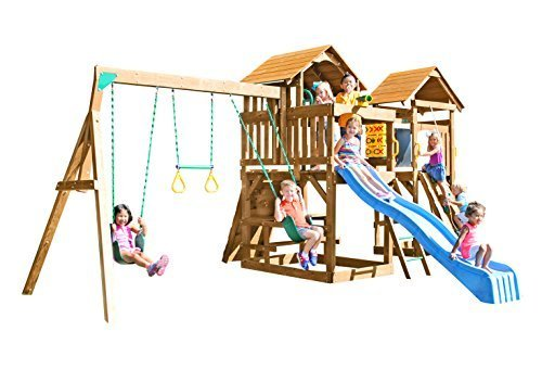 Creative Playthings (Playtime Series) Kensington Swing Set Made in the USA (Set Series Playtime Swing)