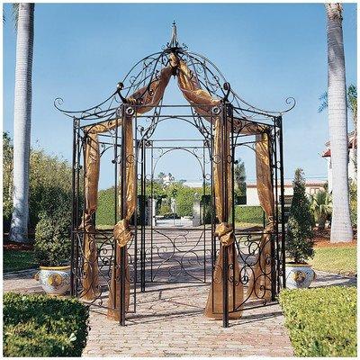 Design Toscano The Amelie Architectural Steel Garden Gazebo (Gazebo Iron)