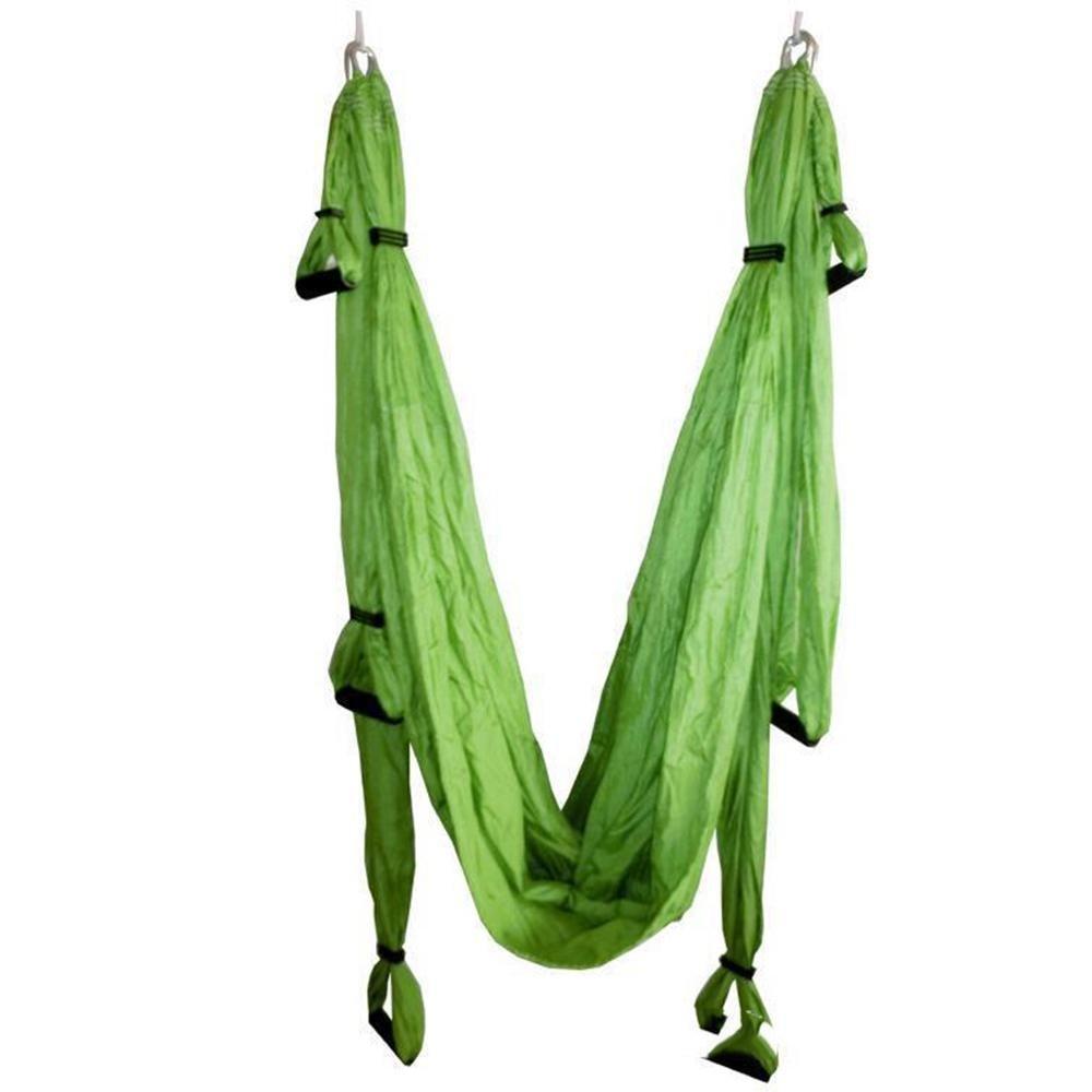 アンテナヨガフライングのハンモックの多機能のフィットネスヨガは、 250 * 150 cm スイング B07CBQDC5S  緑