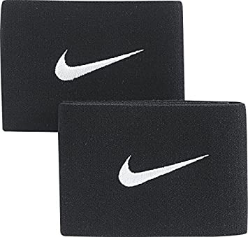 Nike Stay Protection de Tibia Mixte Adulte, Noir/Blanc, Taille Unique