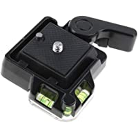HOMYL Removable Quick Release Plate for Tripod Ball Head Adapter with Three-Dimensional Spirit Level Horizontal Adjustment