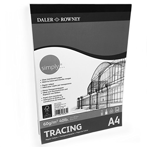 - Daler Rowney - Tracing Paper Pad - 60gsm - 40 Pages - A4 Portrait - Made in England