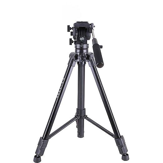 LEDU Trípode de cámara portátil, trípode de Aluminio para Soporte ...