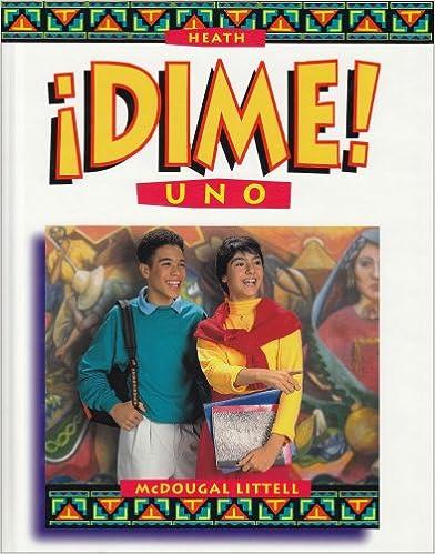 McDougal Littell Dime: Student Edition Level 1 1997