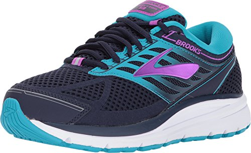 Brooks Womens Addiction 13 Evening Blue/Teal Victory/Purple Cactus Flower 6.5 D US