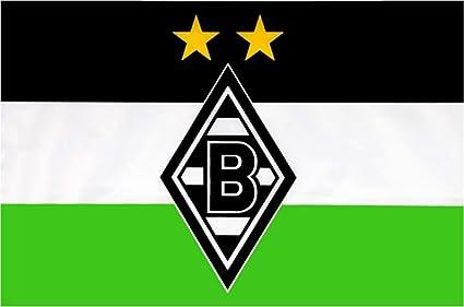 "HISSFAHNE FAHNE /""Logo/""  VFL BORUSSIA MÖNCHENGLADBACH NEU"