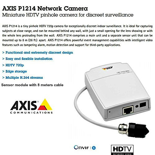 Axis 0532-001 Communications Mini HDTV P - Black & White Pinhole Camera Shopping Results