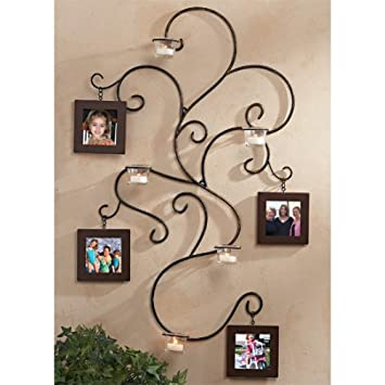 Amazoncom Wall Hanging Vine Photo Collage Wrought Iron Frame