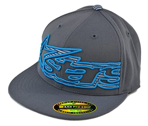 Alpinestars Mens Big Plaid 210 Flexfit Hat Charcoal L/XL 10328101218LXL
