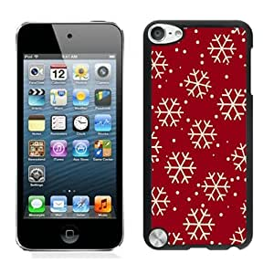 Featured Desin Christmas Snowflake Black iPod Touch 5 Case 8