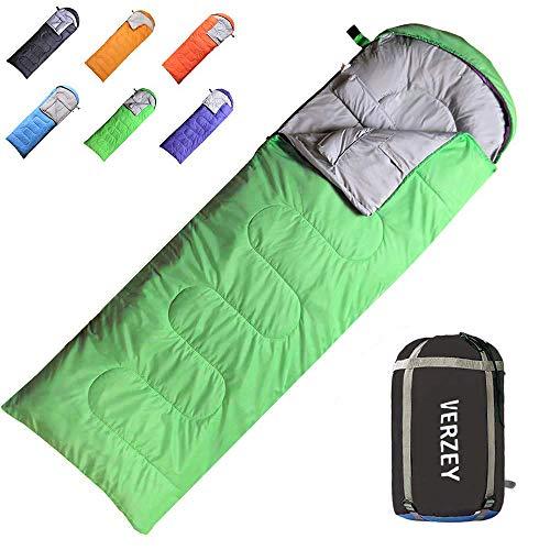 - VERZEY Mummy Envelope Camping Sleeping Bag, Great for 3 Season, Hiking Outdoor Activities Waterproof Lightweight Sleeping Bags for Adults, Youth,Teens ,Kids & Boys