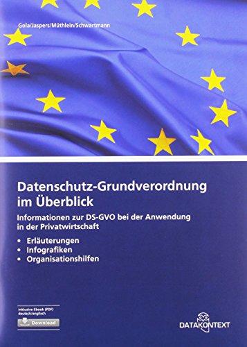Datenschutz-Grundverordnung im Überblick: Informationen zur DS-GVO bei der Anwendung in der Privatwirtschaft Erläuterungen, Infografiken und Organisationshilfen
