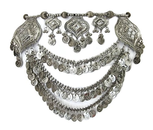 IndiaStop Tribal Boho Metal Coin Chain Womens Belt Handmade Belly Dance Gypsy Hippie Festival Ladies Female Waist - Dance Belly Hippie Gypsy