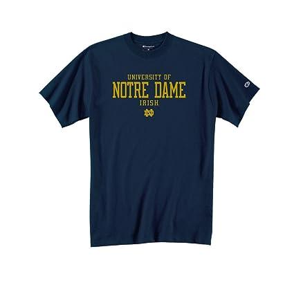 cfd034fe163 Amazon.com : Champion University of Notre Dame T Shirt Navy ...