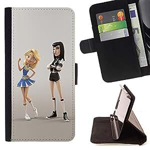 Jordan Colourful Shop - Cheerleader Punk Fight Cartoon Character For Apple Iphone 6 PLUS 5.5 - Leather Case Absorci???¡¯???€????€??????&aci