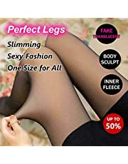 DAYEE Flawless Legs Fake Translucent Warm Fleece Pantyhose Thick Women Winter Tights