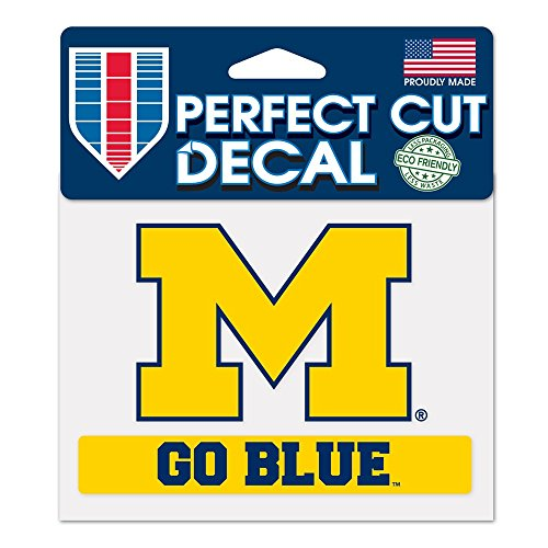 NCAA University of Michigan WCR38155014 Perfect Cut Color Decal, 4.5