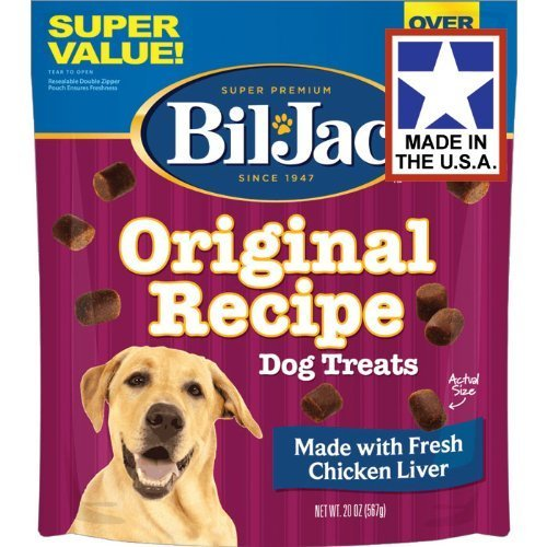 (3 Pack) Bil Jac Liver Dog Treats, 20 Ounces Each
