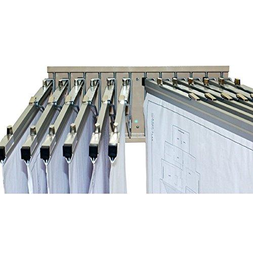 Hot sale 2017 adir corp pivot wall rack with hangers for blueprints pivot wall rack with hangers for blueprints plans malvernweather Choice Image
