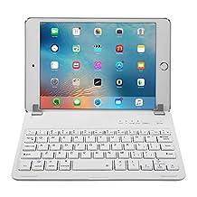 Raydem iPad Mini 1 / 2 / 3 Keyboard Cover - Ultra-slim Wireless Bluetooth Keyboard Folio Cover Case 200 Hours Working Time, 130 Degree Multi-Angle with Auto Wake / Sleep for Apple iPad Mini 1 / 2 / 3