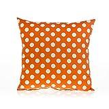 Sweet Potato Calliope Pillow with Orange Dot, Tangerine/Orange/ White