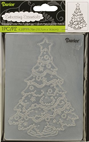 Darice 1218-45 Embossing Folder, 4.25 by 5.75-Inch, Christmas Tree Design