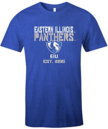 NCAA Eastern Illinois Panthers Est Stack Jersey Short Sleeve T-Shirt, Royal,Large