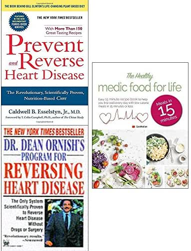 Prevent and reverse heart disease, dr dean ornish reversing heart disease and healthy medic food for life 3 books collection set