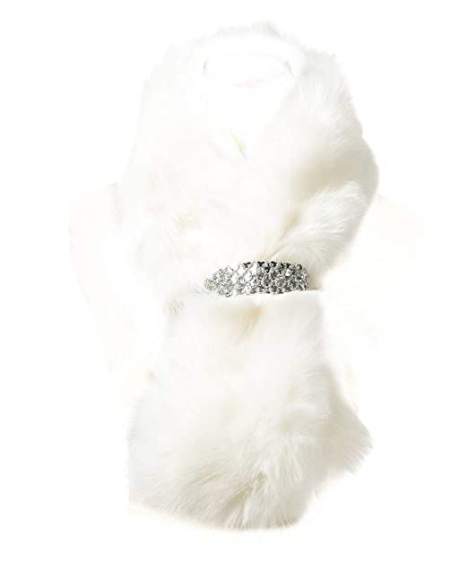 new products ff1de 16e26 Saferin Donna Pelliccia artificiale Collare sciarpa per Inverno  Abbigliamento per Festa di Matrimonio