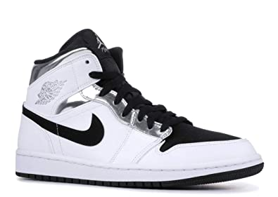a20819fc9837 Image Unavailable. Image not available for. Color  Nike Air Jordan 1 I Mid  Alternate Think 16 Black ...