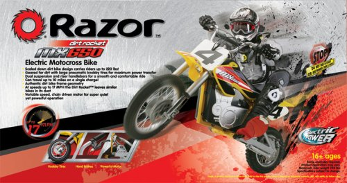 amazoncom razor mx650 dirt rocket electric motocross bike sports scooter equipment sports u0026 outdoors