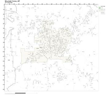 Mountain Home Ar Zip Code Map.Amazon Com Zip Code Wall Map Of Mountain Home Ar Zip Code Map Not