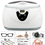 Homdox UJ-7 20 oz Professional Ultrasonic Polishing Jewelry Cleaner Machine for Cleaning Eyeglasses, Watches, Rings, Necklaces, Coins, Razors, Dentures, Combs, Tools, Parts, Instruments
