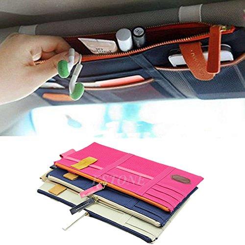Pocket Organizer Pouch Bag Holder In-Car (Beige) - 9