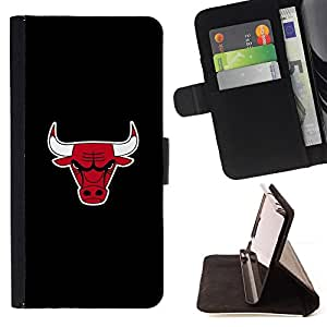 Chicago Basketball Team - Painting Art Smile Face Style Design PU Leather Flip Stand Case Cover FOR HTC DESIRE 816 @ The Smurfs
