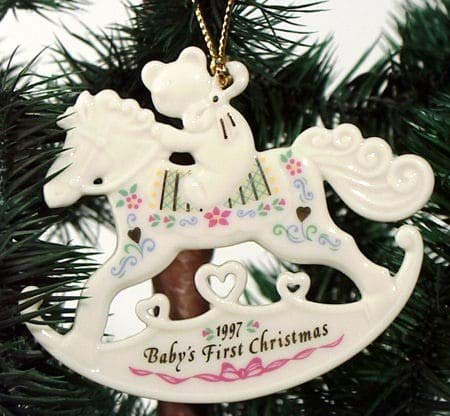 1997 Lenox Baby's First Christmas Rocking Horse Ornament babys 1st